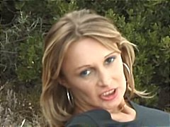 Busty french milf is outside blowing cock and getting ass banged