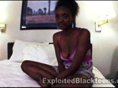 Cute young 18yr old black teen in amateur video