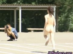 Asian girls run a nude track and field part1