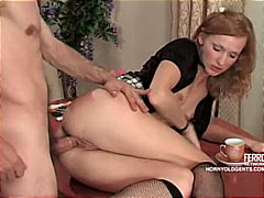 The morning cum for hot russian