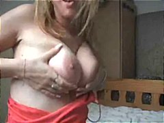 Blonde babe gets off showing her body and masturbating on cam