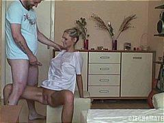Czech amateurs - hot blond girlfriend & fellow