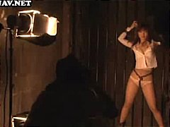 Submissive asian cutie is bound and tortured with hot wax on her ass