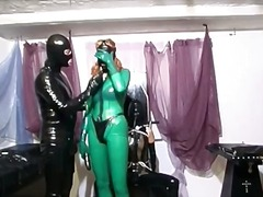 Two horny slut dress in latex and play part6