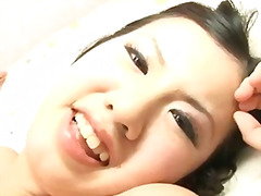 Momoka amai dressed in plaid has her big tits played with