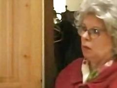 German grandmother catches boy masturbating and fucks him