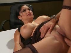 The awesome busty brunette pornstar sophia