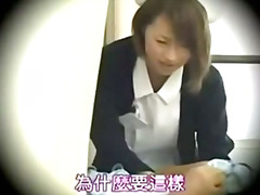 Japanese nurse gives a nice blow job