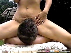 Backyard sex with milf colette
