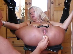 German wife rectal hole play