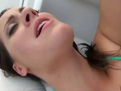 Sexy brunette gf anal boat bang n facial