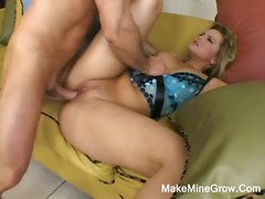 Hot blonde alexis banging her tight pussy