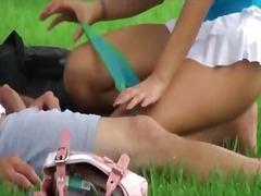 Naughty teen serves a cock