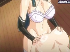 A maid gets a pool table bondage