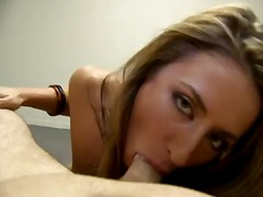 Sweet sheena shaw sucking a hard core on her pussy like mouth filling her with cum.