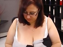 Older on webcam