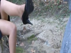 Shoe worship in the woods