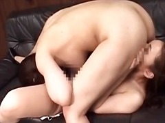 Strapon cock spices up japanese lesbian porn