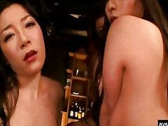 Hot japanese lesbian threesome