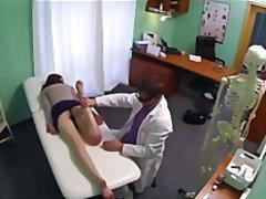 Fake hospital - redhead gets a creampie