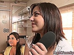 Clothed cfnm femdom girl fucked