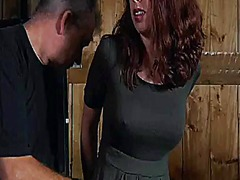 Upside down babe gives blowjob